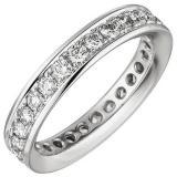 Ring - Memory-Ring - Damenring  - 585 Gold - Weißgold - Diamant Brillanten